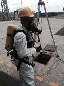 Preparativi per Ispezione in condotta sotterranea