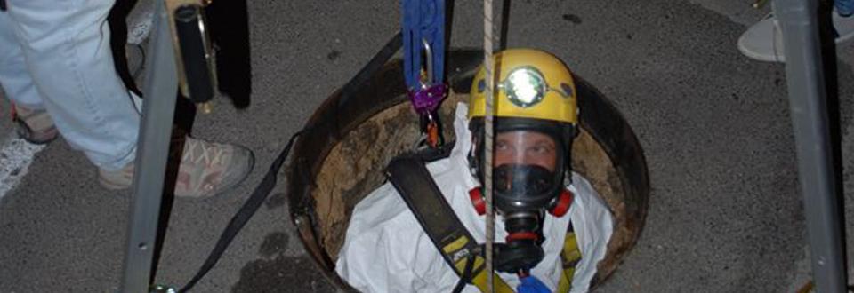 Ispezione in condotta sotterranea